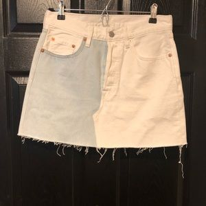Levi's color block denim skirt